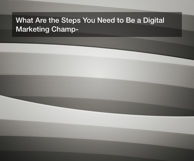 What Are the Steps You Need to Be a Digital Marketing Champ?