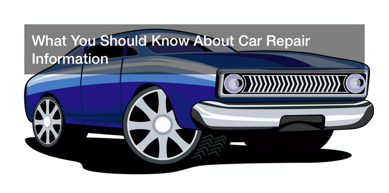 What You Should Know About Car Repair Information